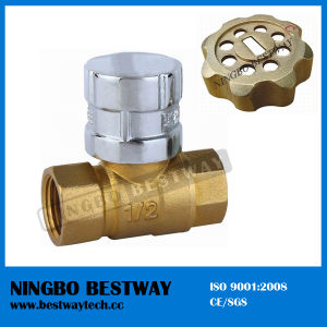 Magnetic Brass Lockable Ball Valve with Key (BW-L07) pictures & photos
