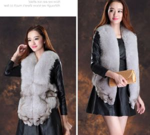 Factory Wholesale Winter Warm Real Fox Fur Vest pictures & photos