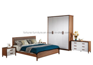 Bedroom Furniture/Modern Wooden Walnut Double Bed (Camel 1011) pictures & photos