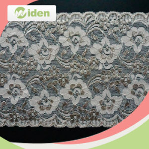 15cm Fashion Indian Wedding Dress Gold Lace Fabric pictures & photos