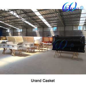 Poplar China Wholesale Velvet Interior Funeral Solid Wood Casket and Coffin pictures & photos