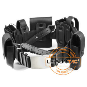 Leather Tactical Belt with Pouches Adopts Leather Material pictures & photos