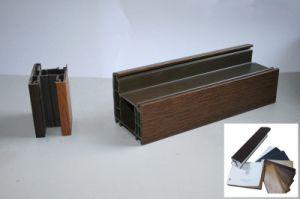 Anti-UV Wooden Grain Exterior Use Plastic Protective Foil/Film for U-PVC & Aluminium Profiles pictures & photos