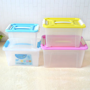 High Quality Household Products Plastic Storage Box Food Container Gift Packing Box with Handles pictures & photos