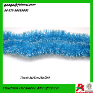 Blue Foil Tinsel Garland