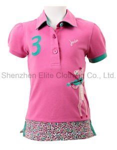 2016 New Design Customized Logo Pink Girls Polo Shirts (ELTWPJ-3) pictures & photos