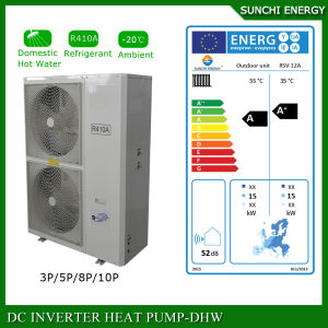 Europe Cold -25c Winter Floor House Heating 12kw/19kw/35kw Evi Tech. Auto-Defrost High Cop How Much Is a Heat Pump Split System pictures & photos