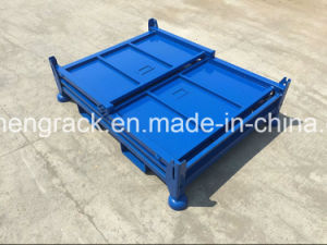 China Popular Metal Cargo Basket with Solid Wall pictures & photos