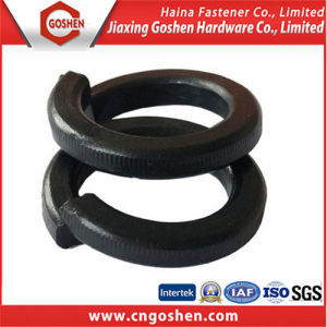 Black Carbon Steel Spring Washer, Spring Washer DIN127 pictures & photos