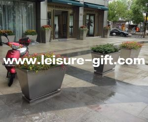 Fo-9049 Stainless Steel Indoor&Outdoor Flower Pot pictures & photos