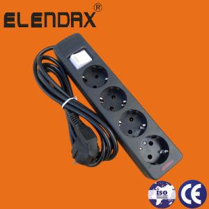 European 4 Way Extension Power Cord with Earth (E5004E) pictures & photos
