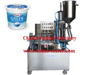 2015 New Yoghurt Cup Filling and Sealing Machine pictures & photos