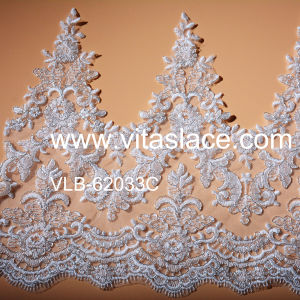 Silver Strand Corded Lace Trim Used on Lady Clothes Vlb-62033c