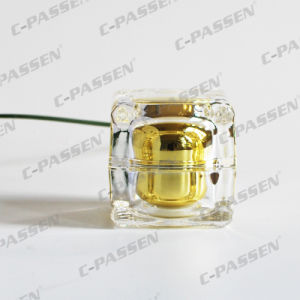 Acrylic Gold Crystal Cream Bottle Jar for Cosmetic Packaging (PPC-NEW-008) pictures & photos
