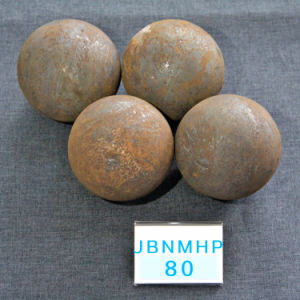 B3 D80mm Surface Hardness 57-60HRC Grinding Media Hot Rolling Steel Ball