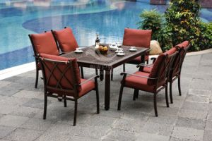 Cast Aluminium Dining Table and Chair