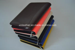 Personalized Zipper PU Leather Organizer Planner with Ring Binder pictures & photos