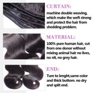 9A Brazilian Hair 100% Human Hair Weft Remy Hair Extension pictures & photos