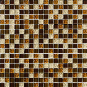 Wholesale Red Color Crystal Glass Mosaic for Bathroom pictures & photos