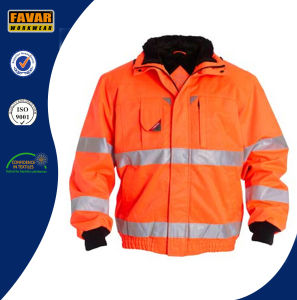 Hi Vis Padded Winter Jacket with Reflector Tape Workwear pictures & photos