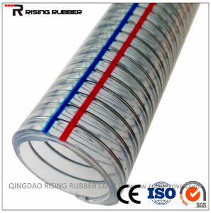 "1/2""PVC Spiral Steel Wire Hose pictures & photos"