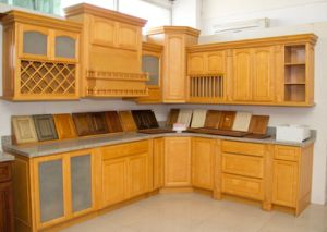 American Style Natural Maple Color Kitchen Cabinet pictures & photos