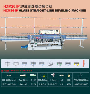 Hxm261p Glass Straight Line Beveling Machine Tn137 pictures & photos