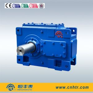 H Series Solid Output Shaft Industrial Bevel Helical Gearbox