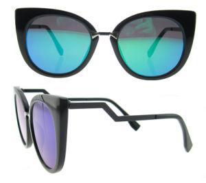 2016 fashion Italian Dseign Cat Eye Acetate Polarized Sunglasses pictures & photos