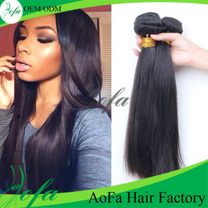 Silky Soft Natural Straight Wavy Curly Weave Browm Hair pictures & photos