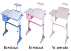 Colorful Blule Pink Good Quality Height Adjustable Wood Furniture pictures & photos
