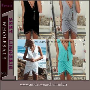 Top Fashion Ladies Sleeveless Women Beach Summer Dress (TKYA323) pictures & photos