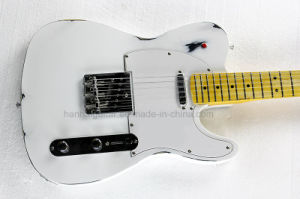 Hanhai Music / 6 Strings White Tele Style Electric Guitar pictures & photos
