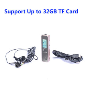 Cheapest Digital Voice Recorder with MP3 Player Support up to 32GB TF Card pictures & photos