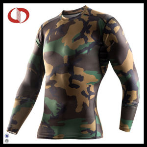 Long Sleeve Mens Print Compression Shirts pictures & photos