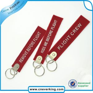 High Quality Embroidery Patch Fashion Key Rings Fobs pictures & photos