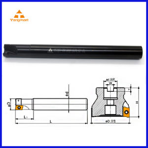 R390 Right Angle Shoulder End Mill Cutter Bar (R390-20-200-C19-2T-11)