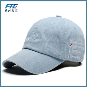 Custom Flexfit Fitted Baseball High Quality Golf Hat Denim Baseball Cap pictures & photos