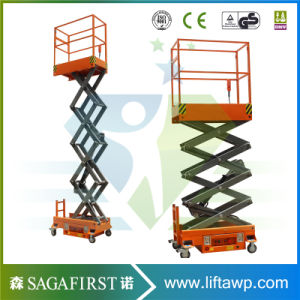 Rail Lift Platform Scissor Kinds Worked in Factory pictures & photos