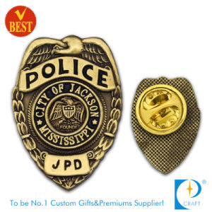 Customized Police Badge with Antique Gold Finished pictures & photos