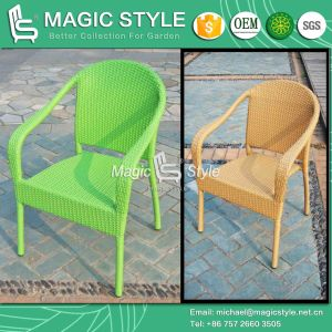 Hot Sale Rattan Chair Promotion Chair Patio Dining Chair Stackable Wicker Chair (Magic Style) pictures & photos