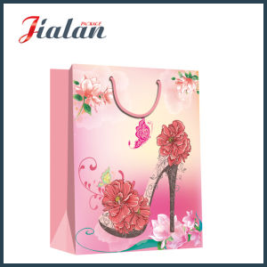 Fashion Lady′s High-Heeled Sandal Hand Shopping Gift Paper Bag pictures & photos