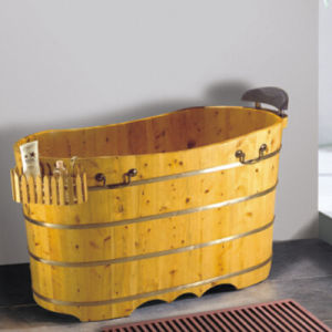 Hight Quality Bathroom Wooden Soaking SPA Bath Tub (NJ-049) pictures & photos