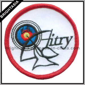 Custom Round Shape Embroidery Patch with Merrow Border (BYH-10945) pictures & photos
