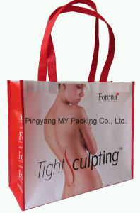 Custom Printing BOPP Laminated PP Non Woven Promotional Bags for Shopping pictures & photos