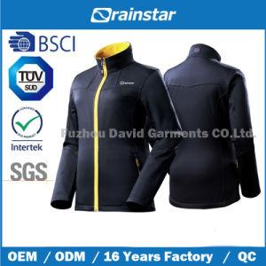 Dobby Stretch Softshell Jacket with Yellow Zipper