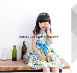 High Quality Girls Flowers Dress Sleeveless Children Wear pictures & photos