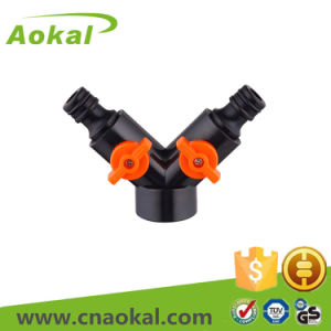 Dual Snap-in Coupling with Shut-off Two Way Connectors pictures & photos