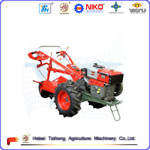Hot Sale Two Wheel Walking Tractor with Trailer, Plough, Cultivator pictures & photos