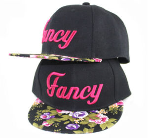 New Fashion Flat Hat Leisure Printed Polyester Cap pictures & photos